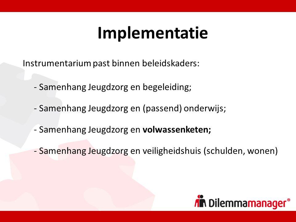 Implementatie Instrumentarium past binnen beleidskaders: