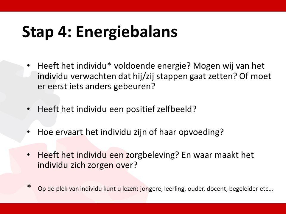 Stap 4: Energiebalans