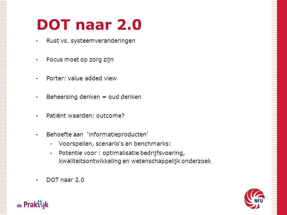 DOT naar 2.0 Rust vs. systeemveranderingen Focus moet op zorg zijn