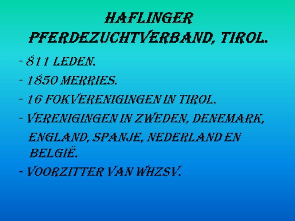 Haflinger Pferdezuchtverband, Tirol.