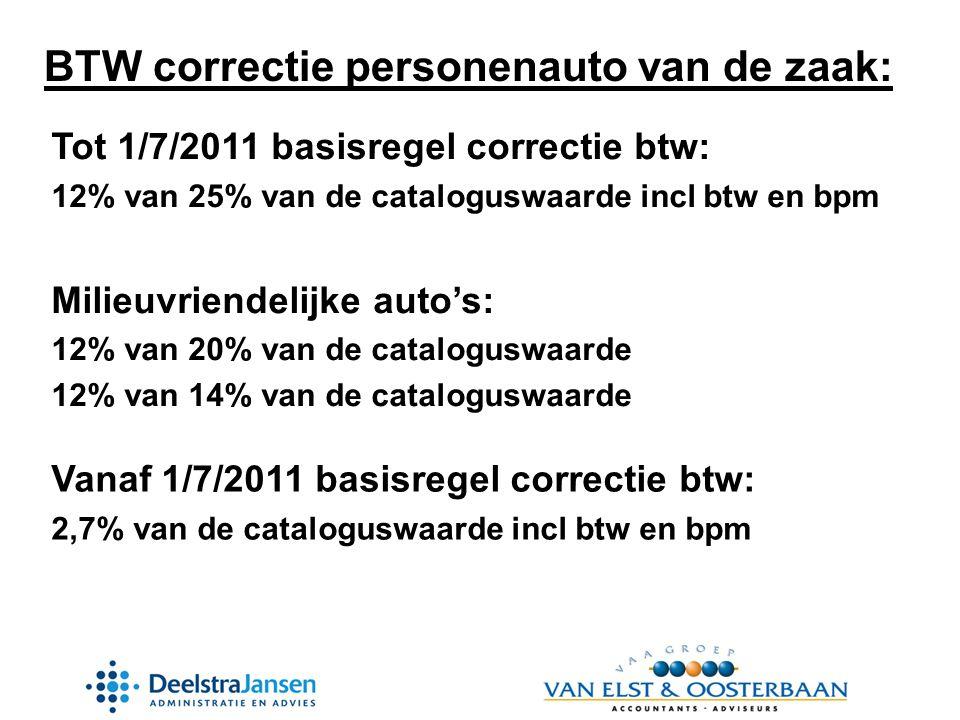 BTW correctie personenauto van de zaak: