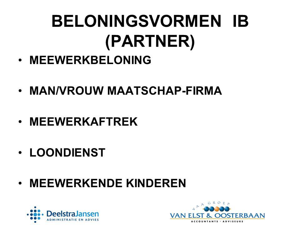 BELONINGSVORMEN IB (PARTNER)