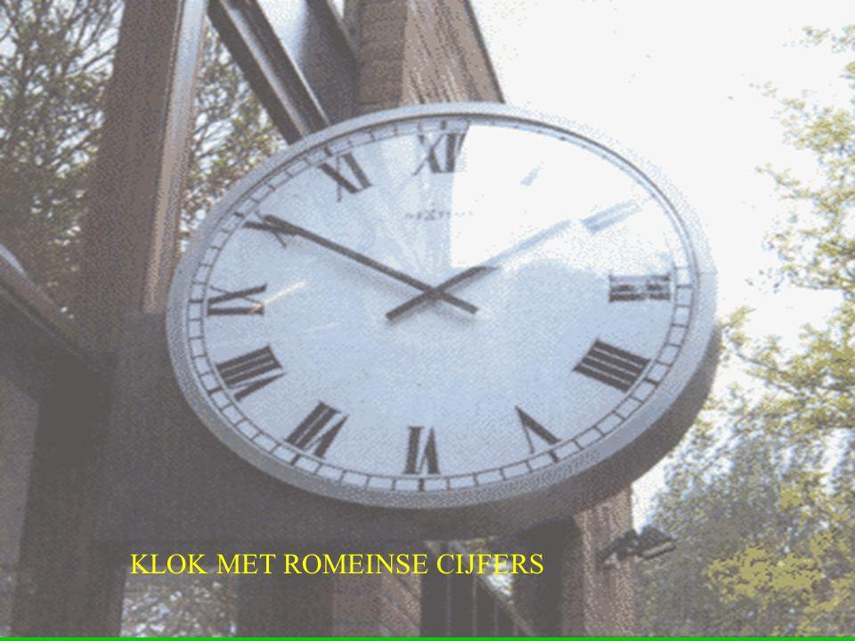 KLOK MET ROMEINSE CIJFERS