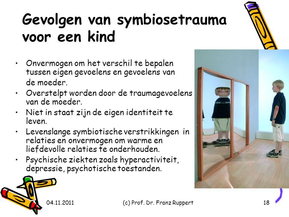 Gevolgen van symbiosetrauma voor een kind