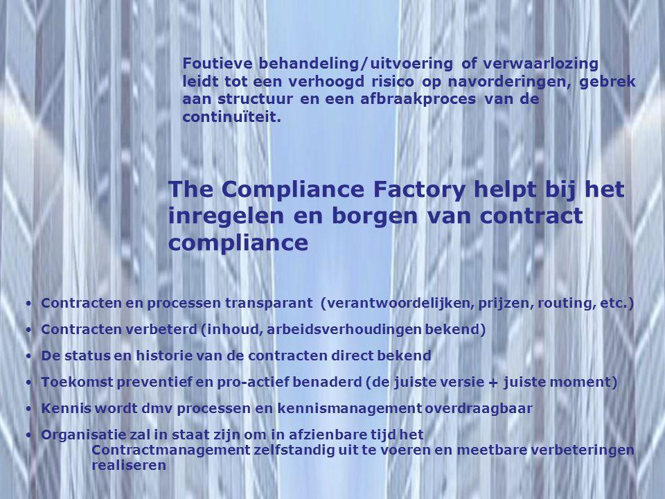 The Compliance Factory helpt bij het inregelen en borgen van contract