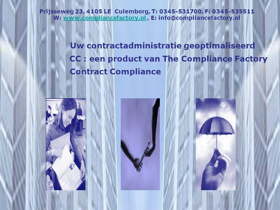 Uw contractadministratie geoptimaliseerd