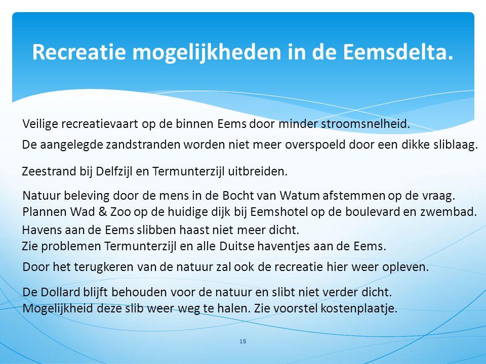 Recreatie mogelijkheden in de Eemsdelta.