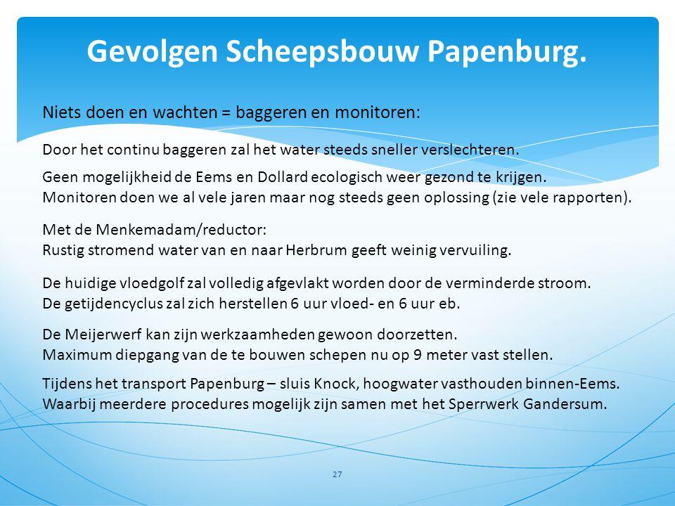 Gevolgen Scheepsbouw Papenburg.
