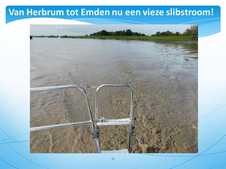 Van Herbrum tot Emden nu een vieze slibstroom!