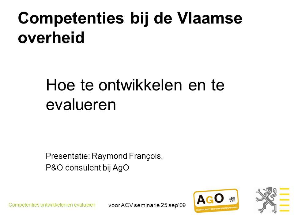 Competenties bij de Vlaamse overheid