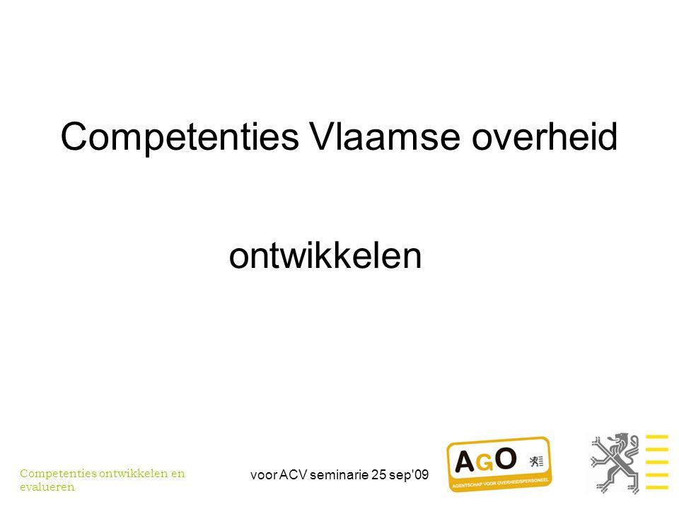 Competenties Vlaamse overheid
