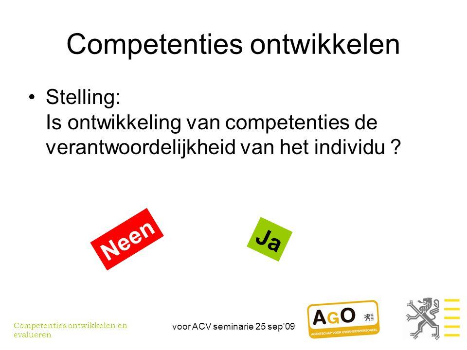 Competenties ontwikkelen