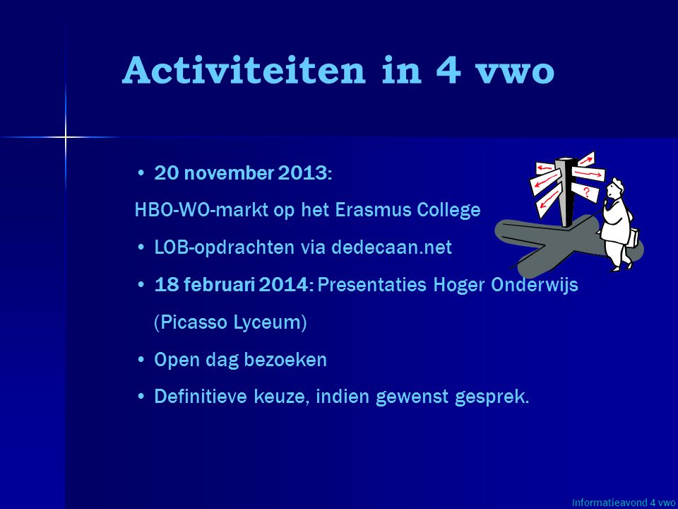 Activiteiten in 4 vwo 20 november 2013: