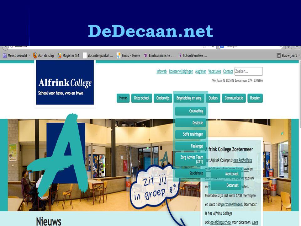 DeDecaan.net Informatieavond 4 vwo