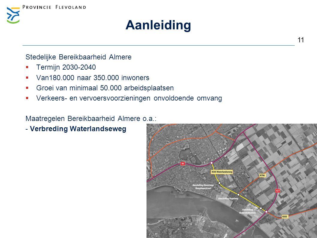 Aanleiding 11 Stedelijke Bereikbaarheid Almere Termijn 2030-2040