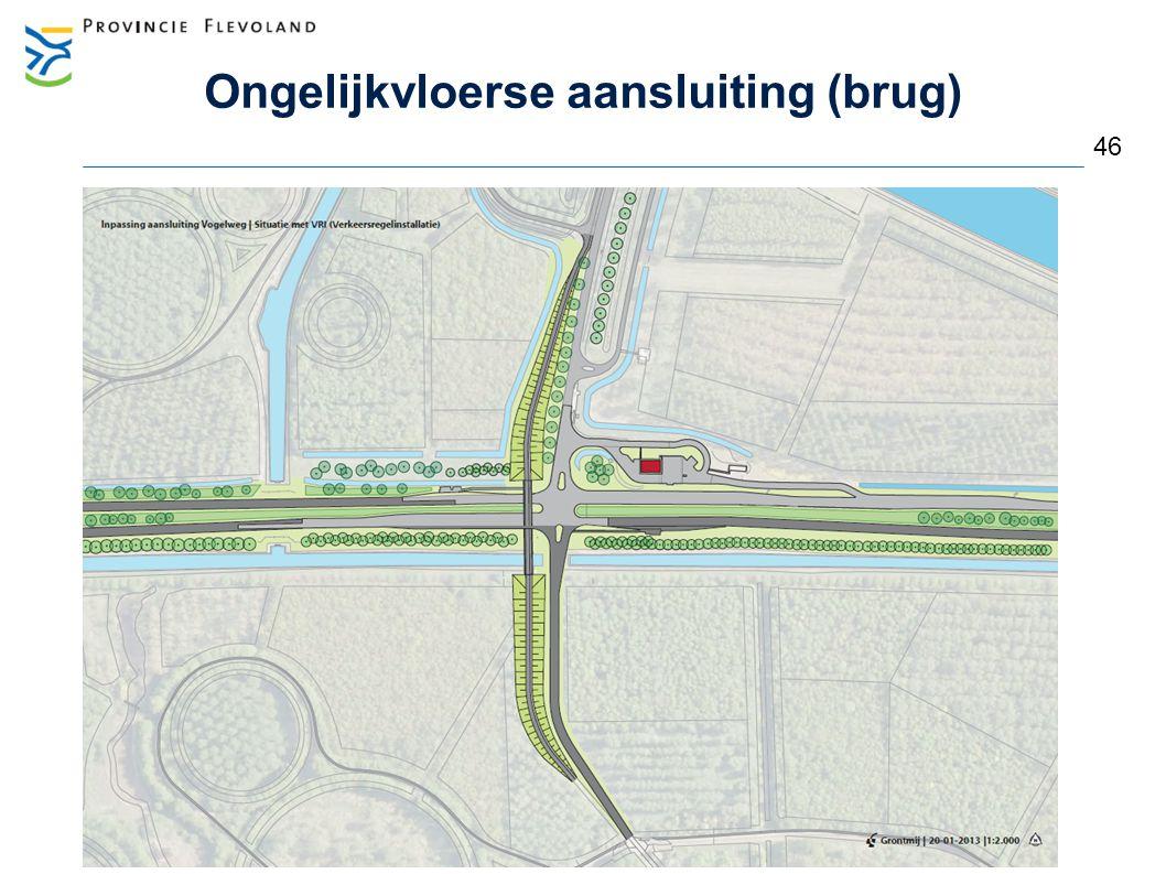 Ongelijkvloerse aansluiting (brug)