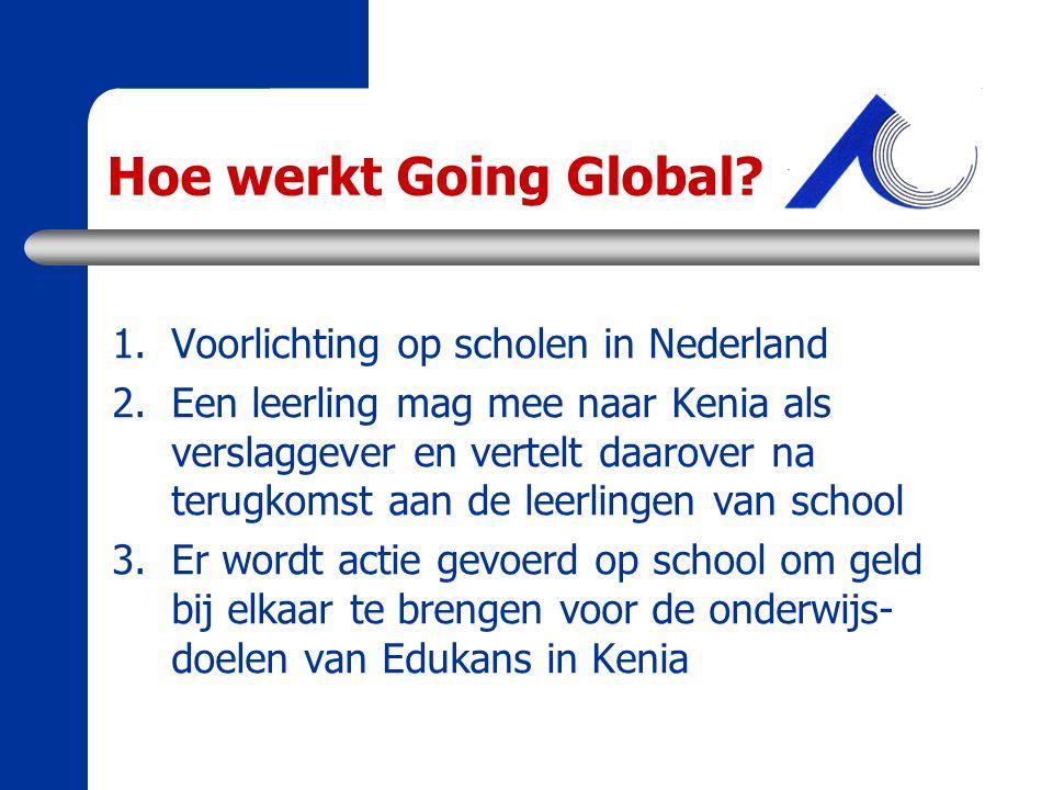 Hoe werkt Going Global Voorlichting op scholen in Nederland