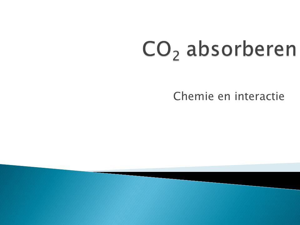CO2 absorberen Chemie en interactie