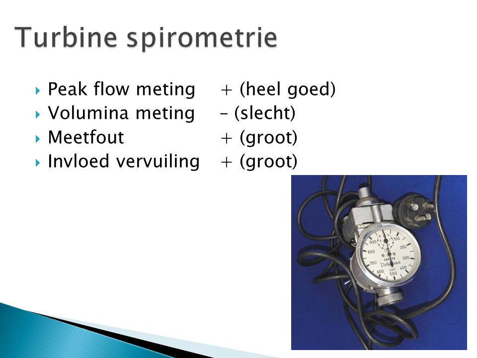 Turbine spirometrie Peak flow meting + (heel goed)