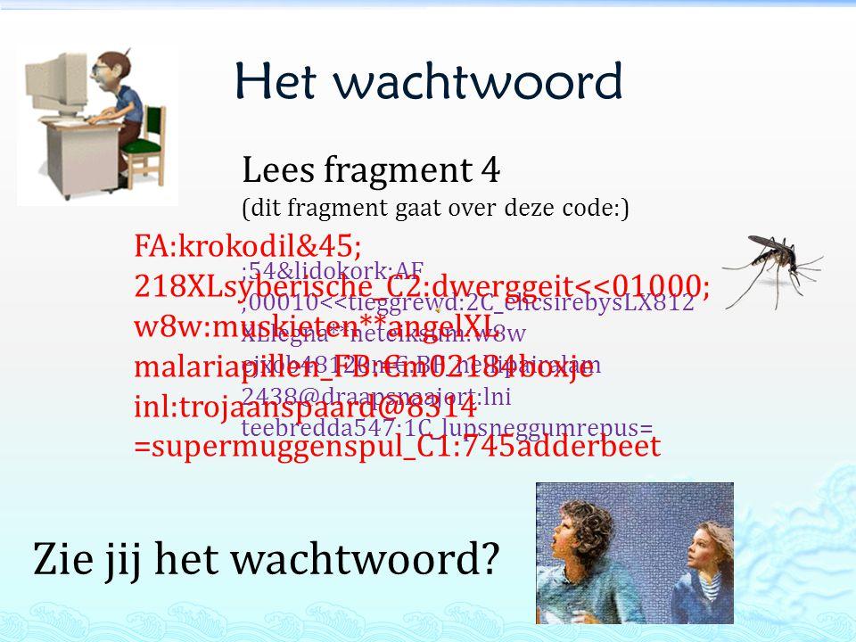 Het wachtwoord Zie jij het wachtwoord Lees fragment 4 FA:krokodil&45;