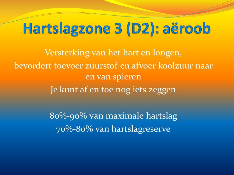 Hartslagzone 3 (D2): aëroob