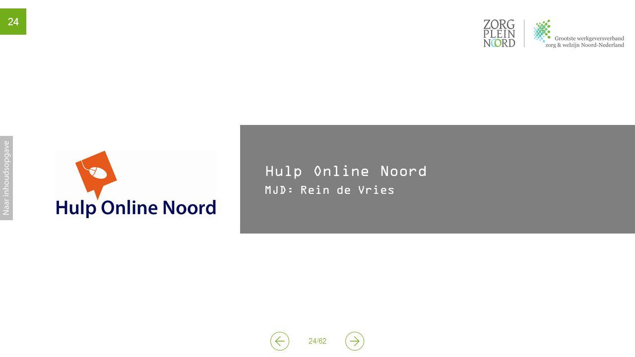 Hulp Online Noord MJD: Rein de Vries