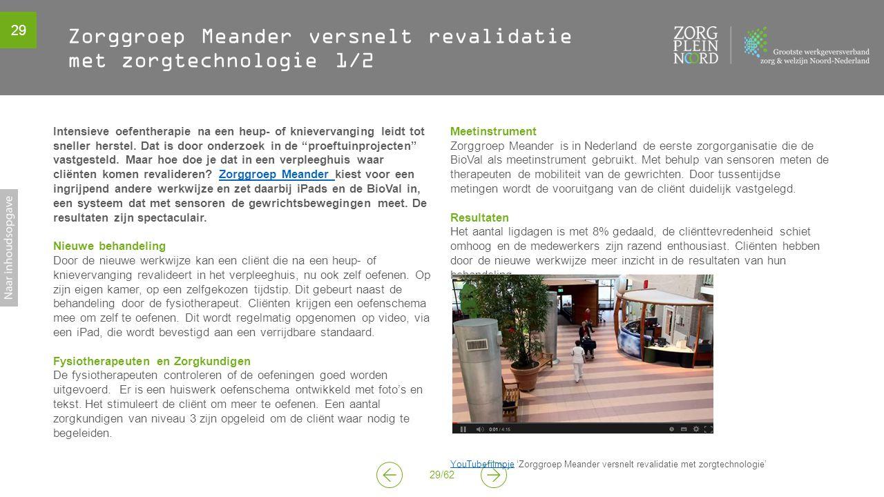Zorggroep Meander versnelt revalidatie met zorgtechnologie 1/2