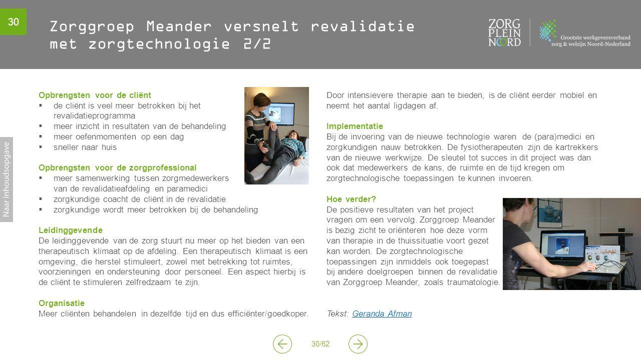 Zorggroep Meander versnelt revalidatie met zorgtechnologie 2/2