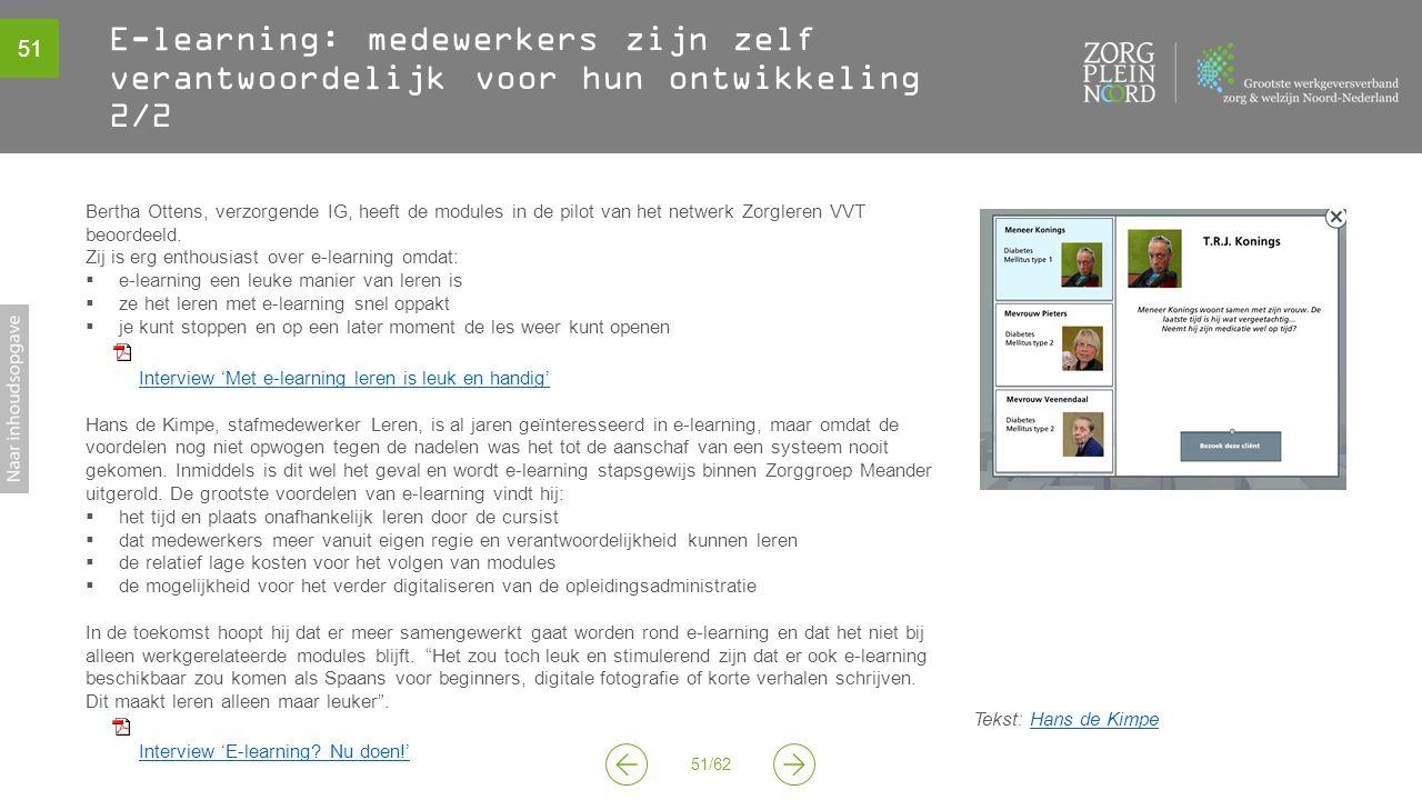 E-learning: medewerkers zijn zelf verantwoordelijk voor hun ontwikkeling 2/2