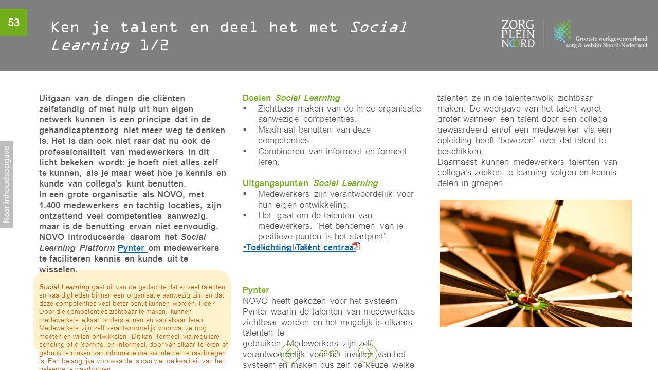Ken je talent en deel het met Social Learning 1/2
