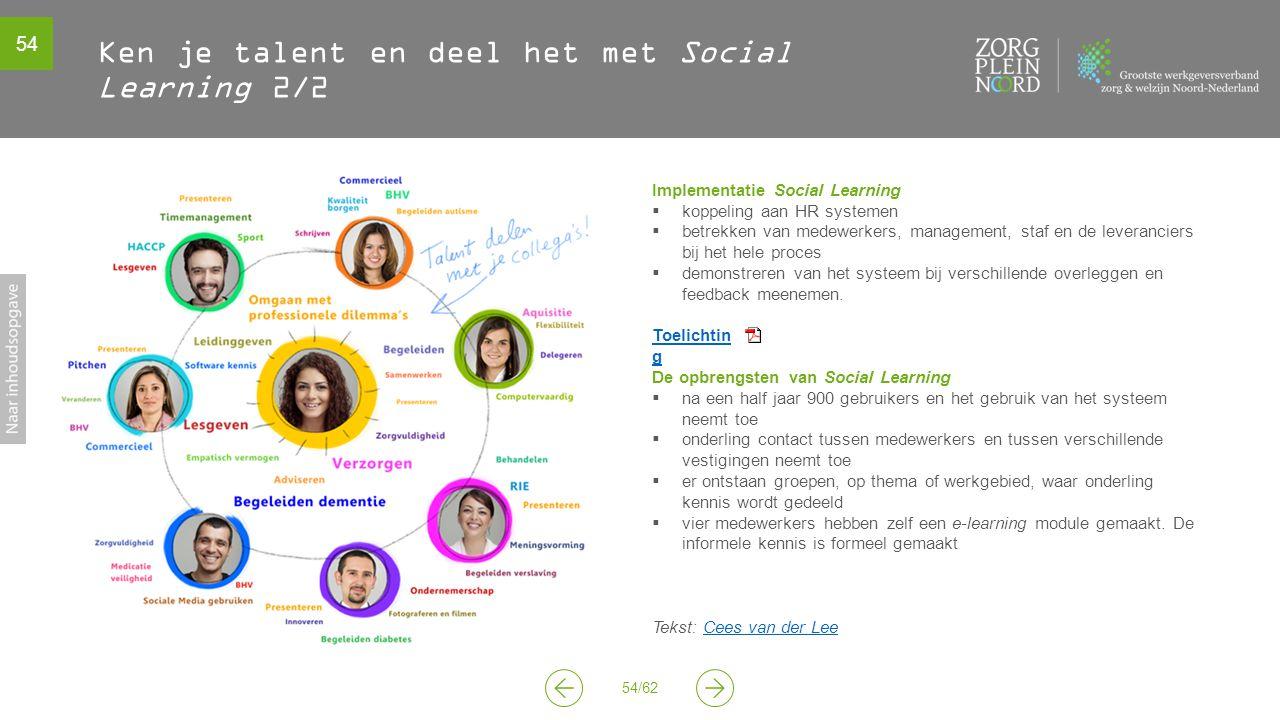 Ken je talent en deel het met Social Learning 2/2