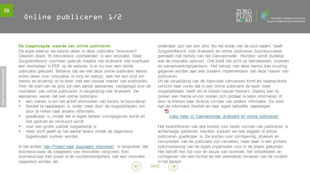 Online publiceren 1/2 De toegevoegde waarde van online publiceren