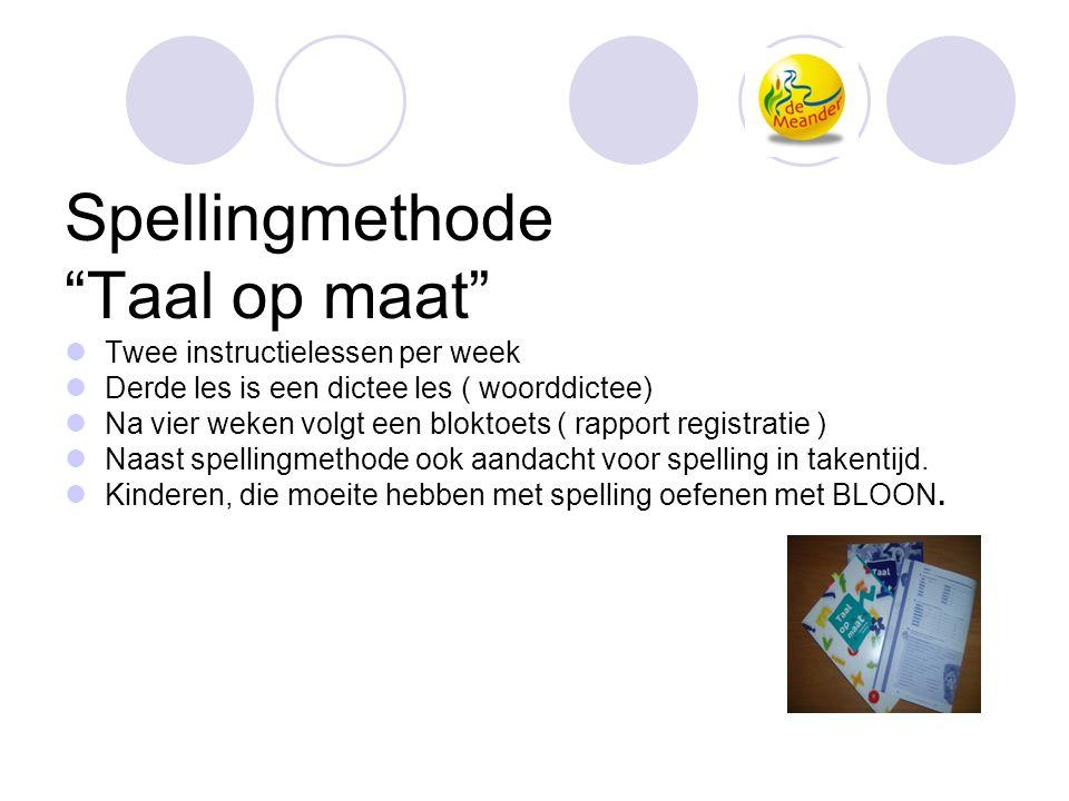 Spellingmethode Taal op maat Twee instructielessen per week