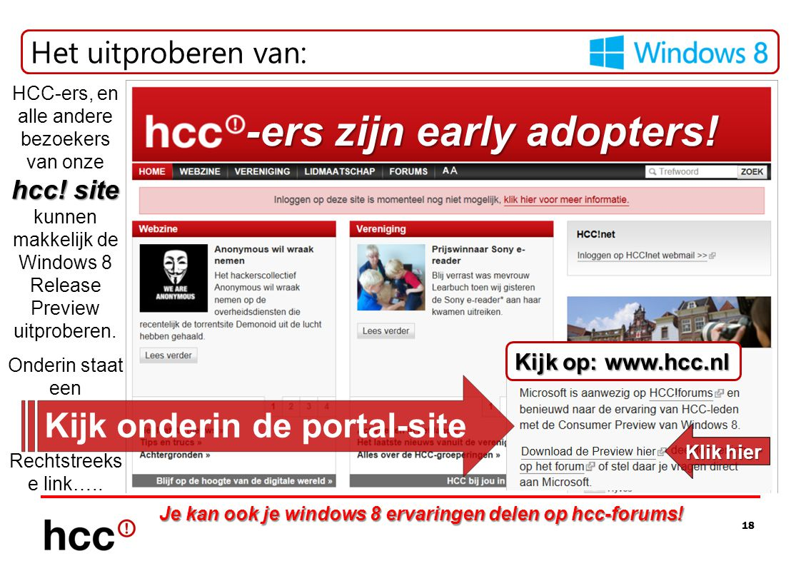 -ers zijn early adopters!