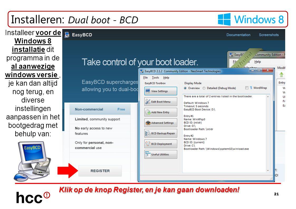 Installeren: Dual boot - BCD