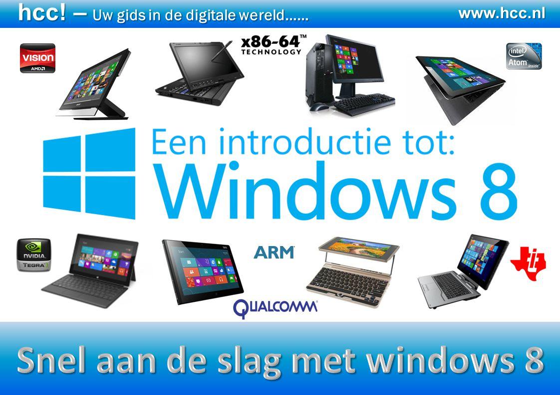 Snel aan de slag met windows 8