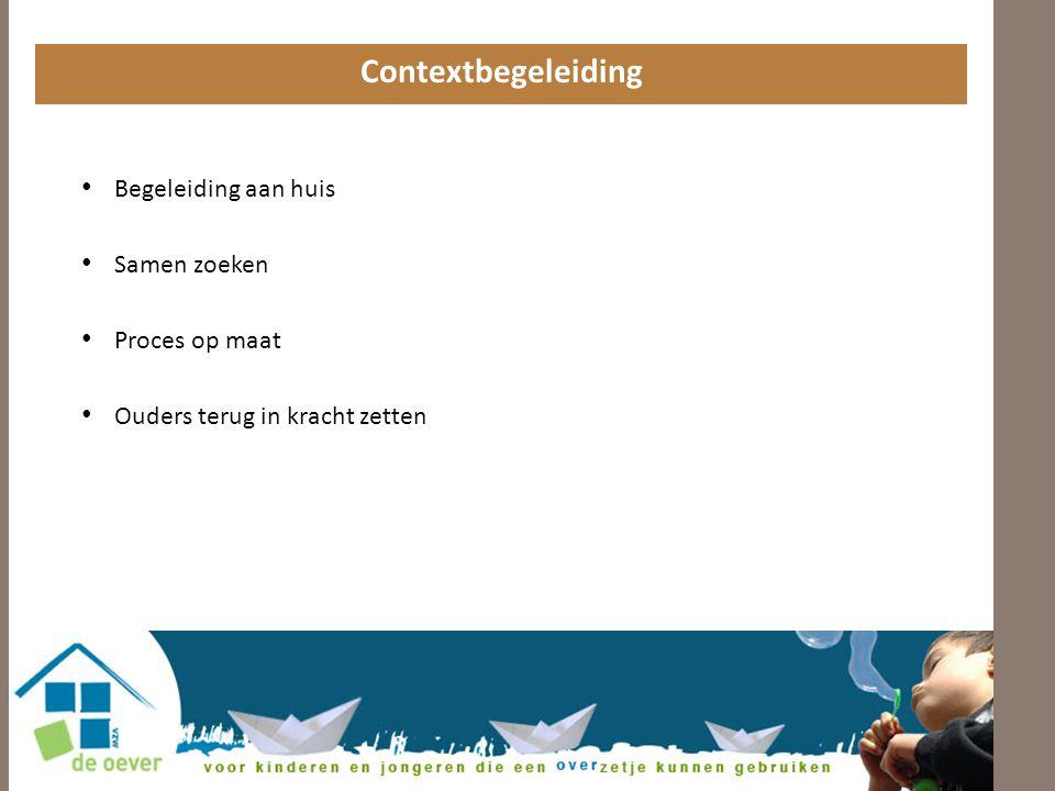 Contextbegeleiding Begeleiding aan huis Samen zoeken Proces op maat