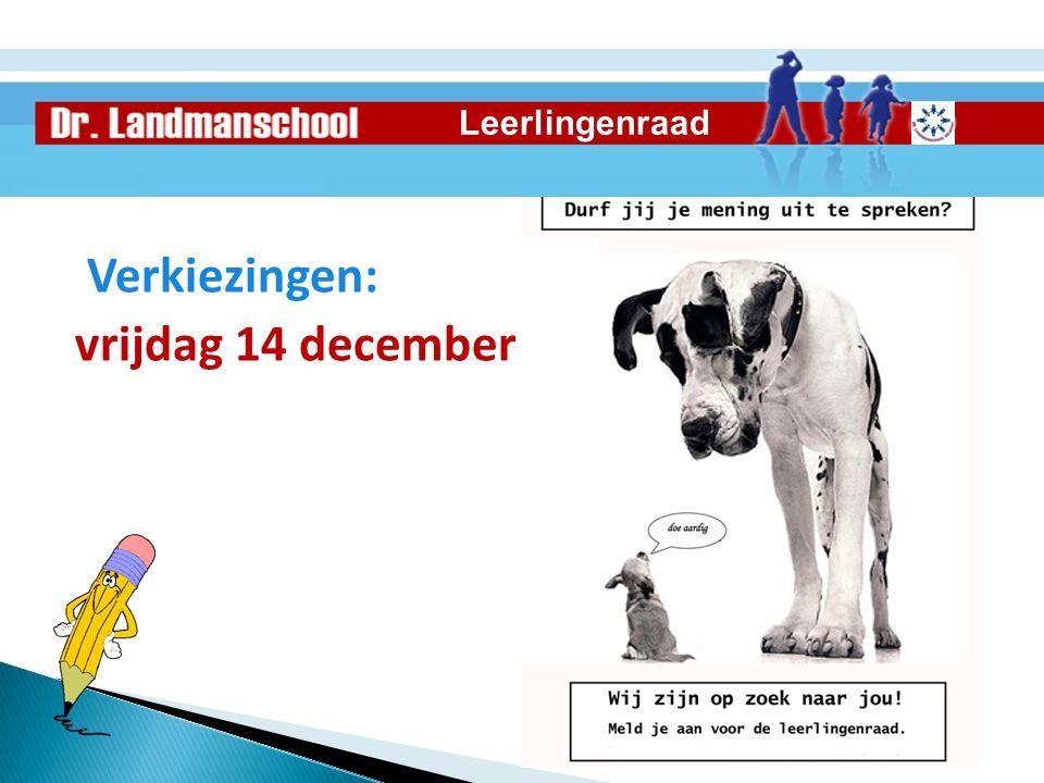 Verkiezingen: vrijdag 14 december