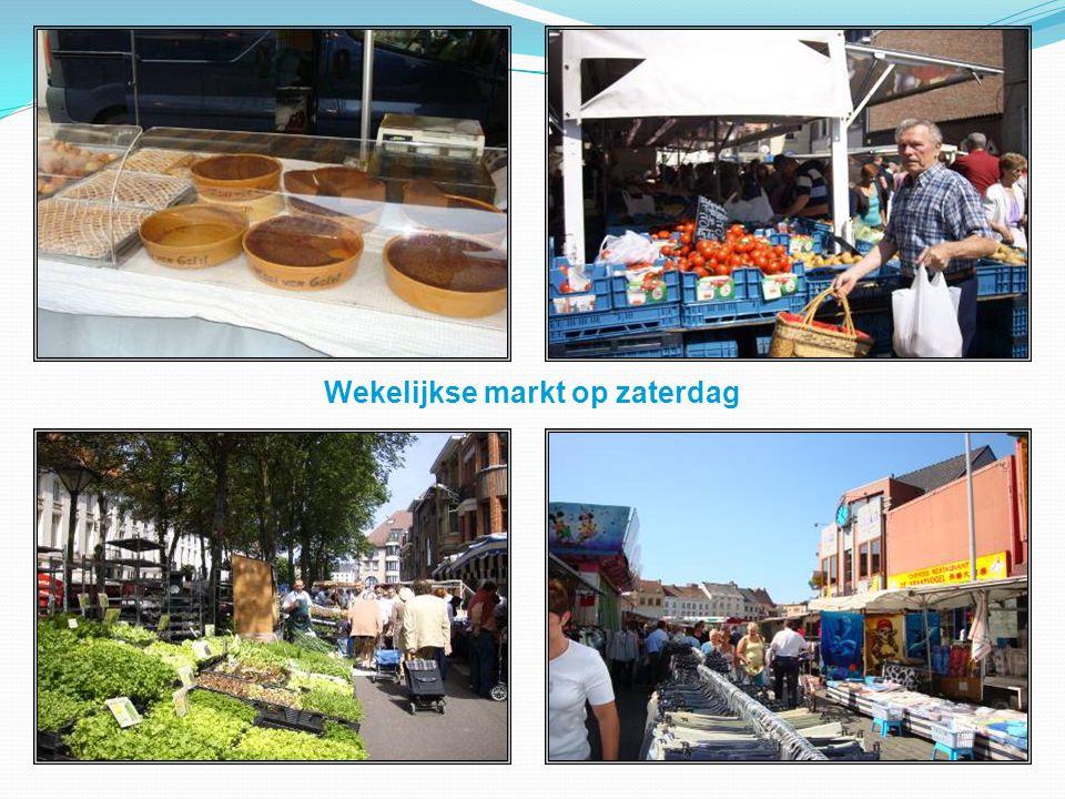 Wekelijkse markt op zaterdag