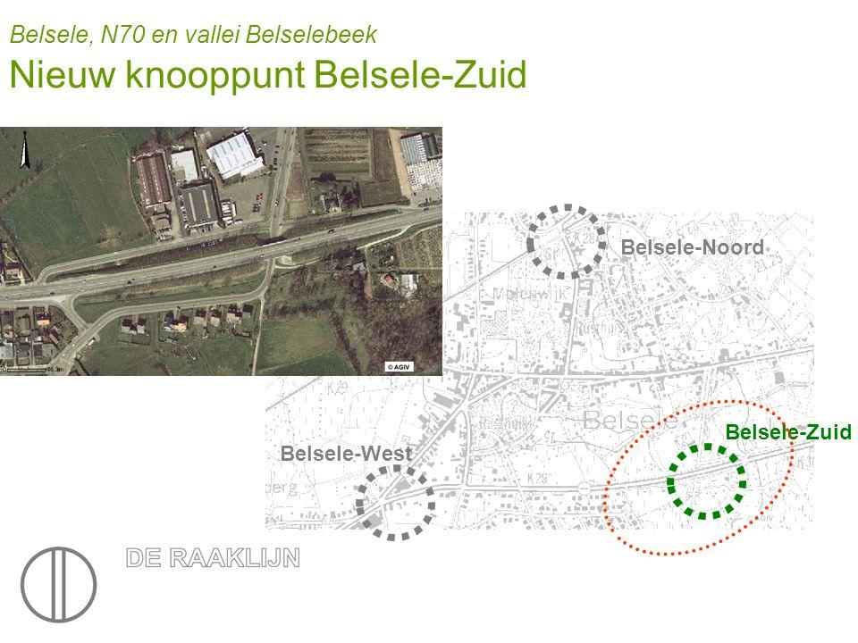 Belsele, N70 en vallei Belselebeek Nieuw knooppunt Belsele-Zuid