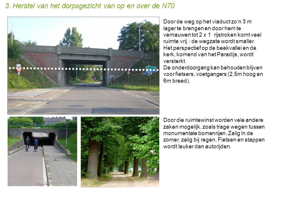 3. Herstel van het dorpsgezicht van op en over de N70