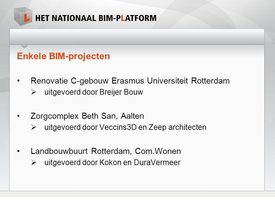 Enkele BIM-projecten Renovatie C-gebouw Erasmus Universiteit Rotterdam