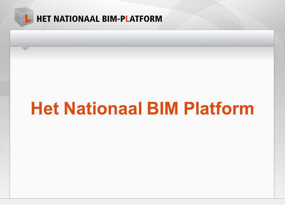 Het Nationaal BIM Platform