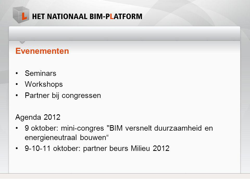 Evenementen Seminars Workshops Partner bij congressen Agenda 2012