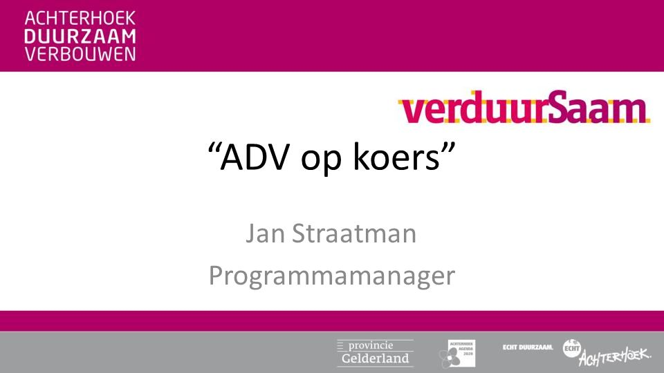 Jan Straatman Programmamanager
