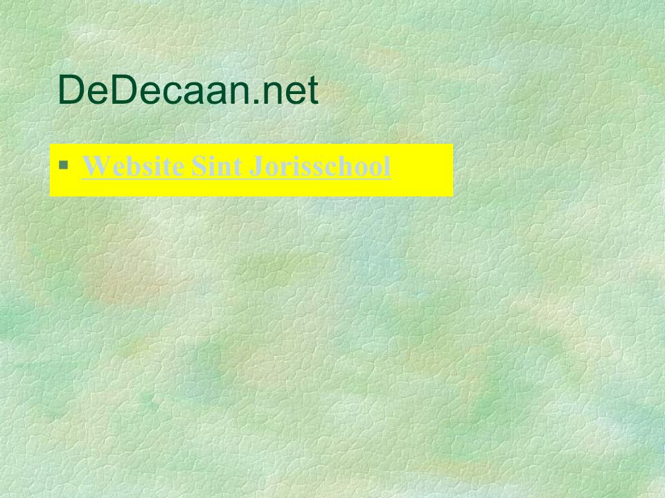 DeDecaan.net Website Sint Jorisschool