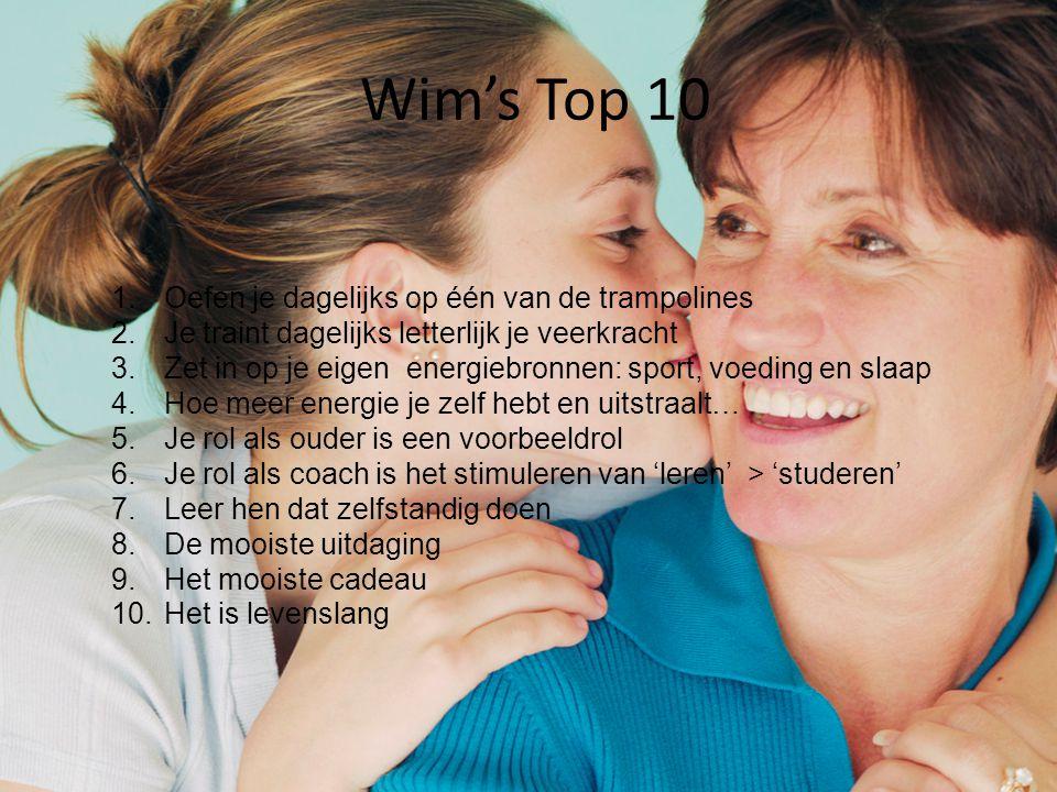Wim's Top 10 Oefen je dagelijks op één van de trampolines
