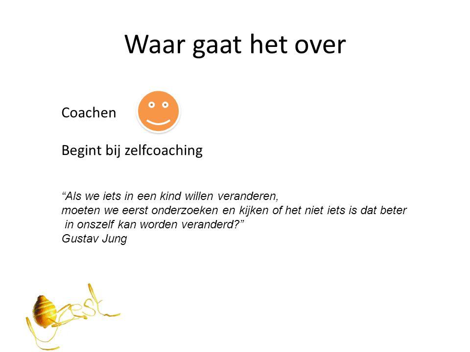 Waar gaat het over Coachen Begint bij zelfcoaching