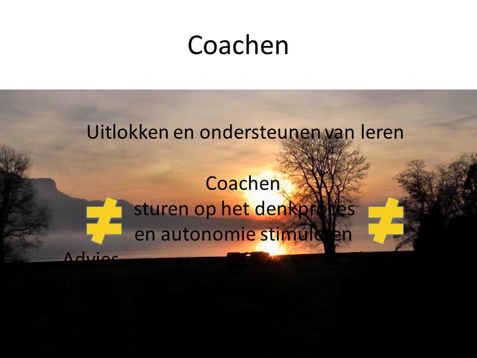 Coachen Uitlokken en ondersteunen van leren Coachen