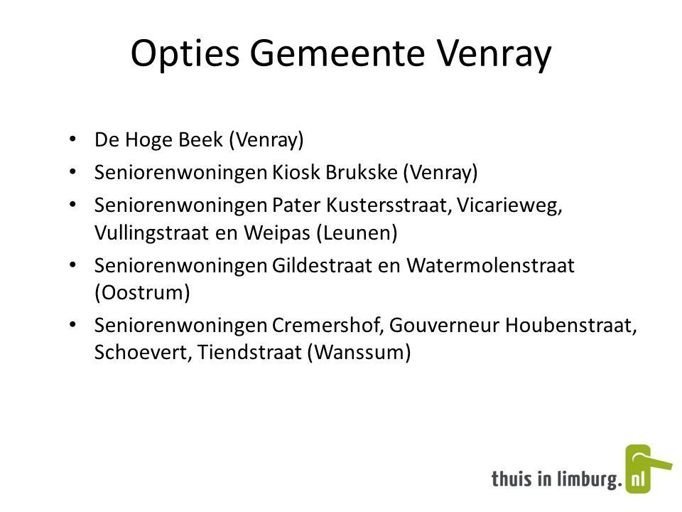 Opties Gemeente Venray